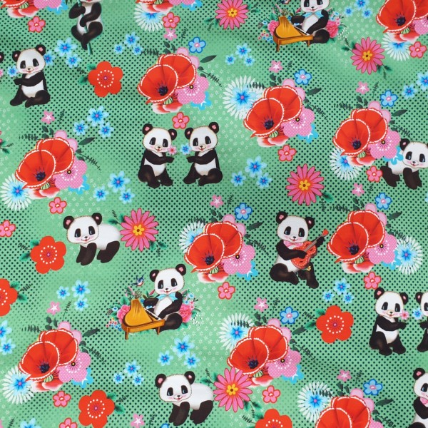 French terry pandas groen Fiona Hewitt